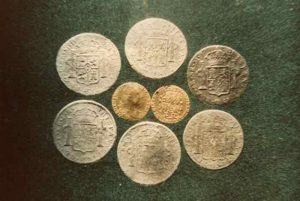 Coins from HMS Haweswell